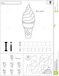 Free Alphabet Tracing Worksheets Cartoon Ice Cream And Igloo Alphabet Tracing Worksheet Writing