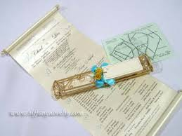 Scroll Invitation Handcrafted Metal Wire Invitation Scroll Holder By Tiffany