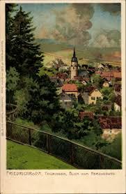 Ak Ansichtskarte Friedrichroda Blick Vom Herzogsweg Künstler Litho Friedrichroda Thüringer Wald Blick Vom Herzogsweg