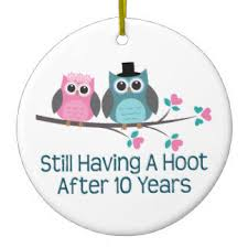 10th year wedding anniversary 10th wedding anniversary ornaments keepsake ornaments zazzle