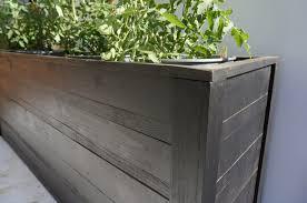 Diy Patio Planter Box Planters Awesome Long Planter Boxes Modern Rectangular Planter