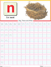 small letter n practice worksheet download free small letter n