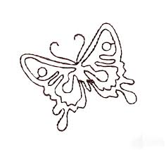 baroque butterfly 2 embroidery design