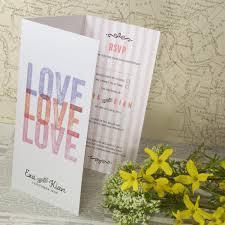 Tri Fold Invitations Love Love Love Tri Fold Wedding Invitation U2013 Love Wedding Print