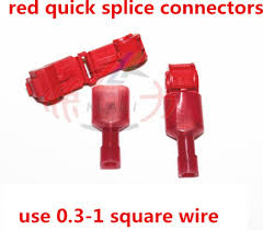100 pcs scotch lock quick splice connector terminal blue wire