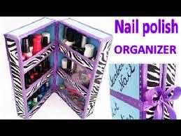 diy nail polish organizer out of waste youtube