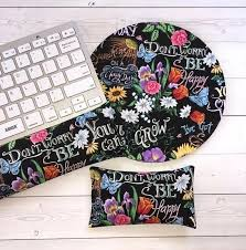 Floral Desk Accessories Floral Desks Set Floral Keyboard Rest And Or Wrist Rest For