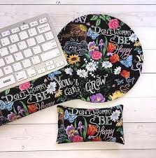 floral desks set floral keyboard rest and or wrist rest for Floral Desk Accessories