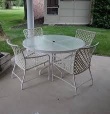 Brown Jordan Patio Set by Brown Jordan Tamiami Glass Top Patio Table And Four Chairs Ebth