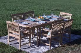 Wood Patio Furniture Pebble Lane Living 7 Piece Teak Wood Patio Dining Set Review