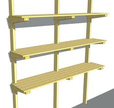 Wood Storage Rack Woodworking Plans by Garage Hanging Wall Shelves Woodworking Plan A Recent Kitchen