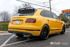 bentley yellow bentley bentayga with 22in savini bm12 wheels exclusively from