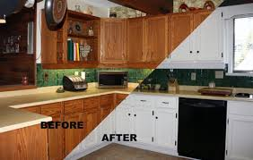 Painting Kitchen Cabinets White Before And After Pictures  Decor - Painting old kitchen cabinets white