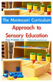 printable montessori curriculum the montessori curriculum approach to sensory education printable