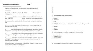 5th grade science test released questions 5th grade science test