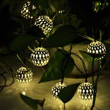 globe solar power string lights for outdoor garden wedding