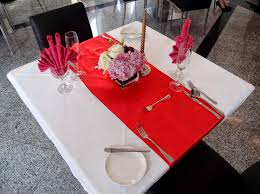 Fine Dining Table Set Up by Romantic Dinner Table Setup