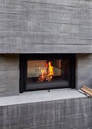 board form concrete make architecture fir pits fireplaces