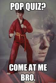 Quiz Meme - karate kyle memes quickmeme