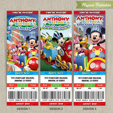 disney mickey mouse clubhouse choo choo express birthday ticket