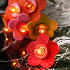 Felt Daisy Decorative String Lights Lighting Party Supplies