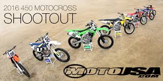 motocross bikes 2015 2016 450 motocross shootout motorcycle usa