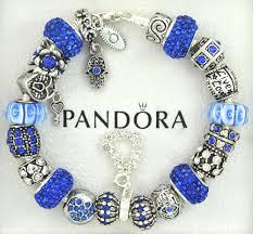 silver european bracelet images Authentic pandora silver charm bracelet with charms blue hamsa jpg