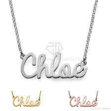 customized nameplate necklace 316l stainless steel high quality personalize cursive name necklace