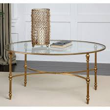Glass Oval Coffee Table Uttermost Vitya Glass Coffee Table Hayneedle