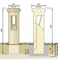 concrete bollard lighting fixtures decorative outdoor concrete light bollards