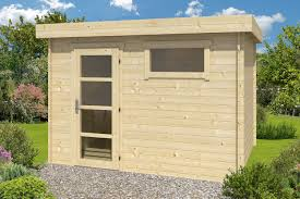 ultramodern flat roof log cabin 3 2x2 6m