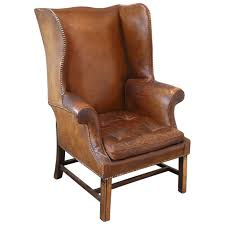 decor french leather wingback chair from the 1920s chairs
