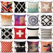 coussin de luxe pour canapé nordique vintage housse de coussin coloré plaid géométrique