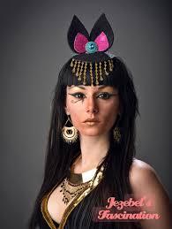 cleopatra costume spirit halloween bastet egyptian cat goddess god fascinator glitter ears