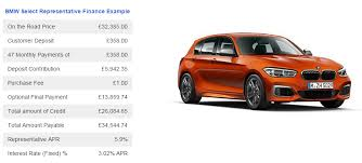 lease bmw 1 bmw 1 series m135i auto 299 inc vat on 2 year lease total 8879