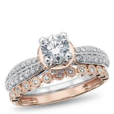 golden diamond rings images Calista collection 14k white and rose gold diamond engagement jpg