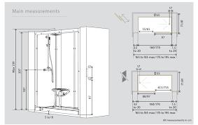 kinemagic recessed watertight walk in shower cubicle pod 1600mm x