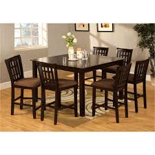 venetian worldwide eleanor 7 piece espresso bar table set cm3246pt