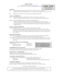 example resume for speech language pathologist graduate student