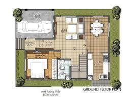 villa plans facing villa plans 3 bhk villa for contemporary lifestyle