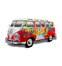 volkswagen maisto maisto volkswagen van samba hippie line 1 25 model araba kırmızı