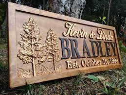 Personalized Wood Signs Home Decor 8 Best Wedding Gift Ideas Images On Pinterest Family Name Signs