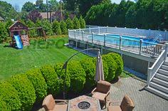 semi inground pool deck ideas pools u0026 backyards pinterest