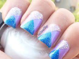 nailart and things mirrored triangles tape nail art
