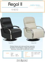 barcalounger regal ii leather recliner chair leather recliner