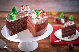 christmas chocolate chocolate christmas cake bake with stork