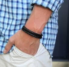 braid hand bracelet images Men 39 s double braid red leather bracelet brick red sterling jpg