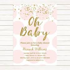 pink and gold baby shower invitations pink and gold party invitation baby shower invitation pink and