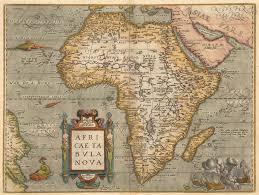 Ancient Map Ancient African 1584 1584 Map Ortelius Abraham 1527 1598 Africae