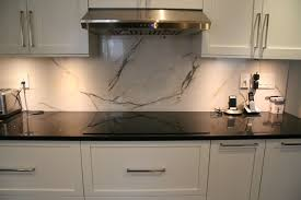 Faux Marble Backsplash Transitional Kitchen Montreal By - Marble backsplashes